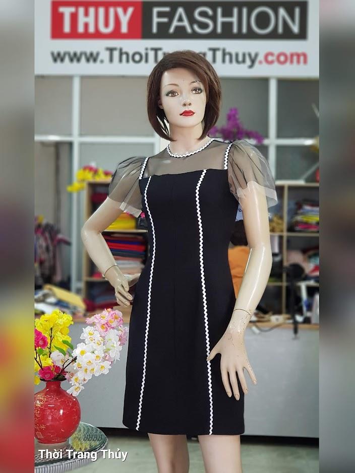 Váy xòe chữ A mặc dạo phố dự tiệc V709 tại thời trang thủy ở hà nội