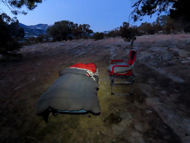 Early morning at camp near Hart's Draw