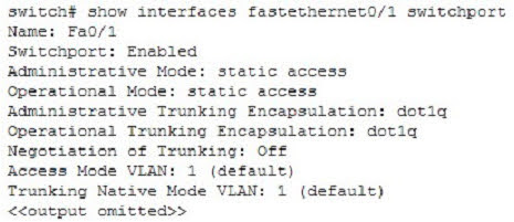 Examine the following output from SwitchD.