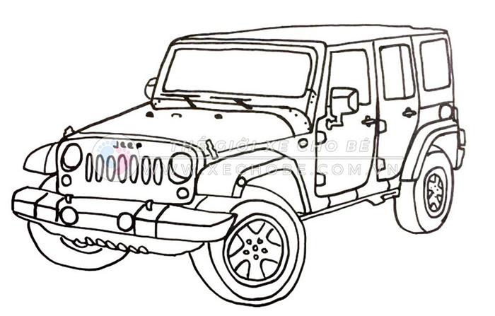 tranh tô màu xe ô tô cho bé 13