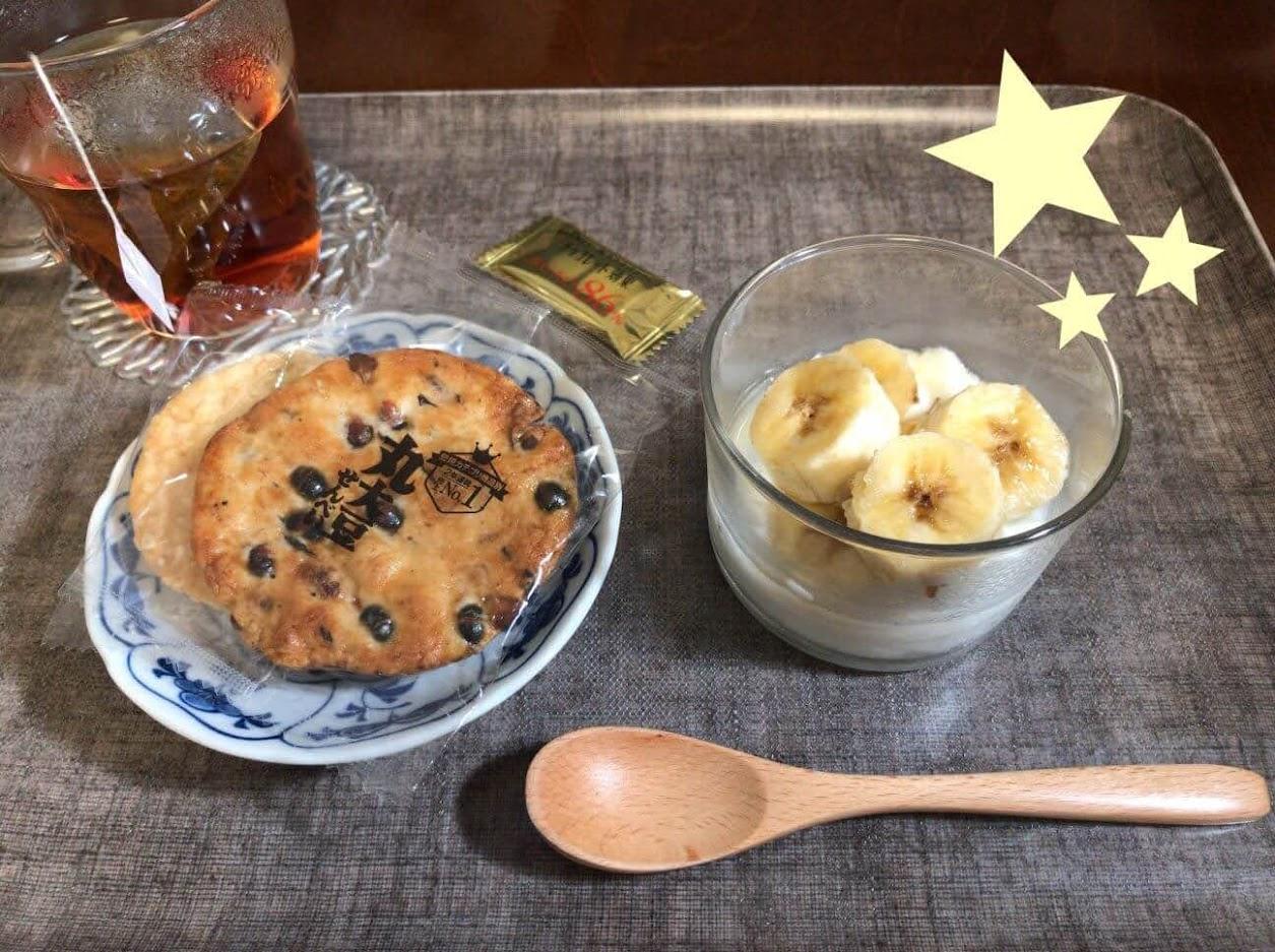 ニトリ木製スプーンでデザートを食べる