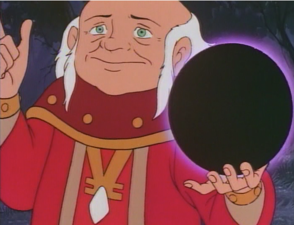 Dungeon Master holds a globe of darkness