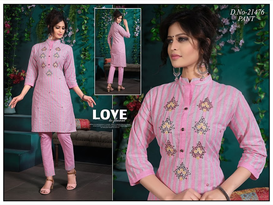 Simran Design No 21476 Kurtis Pant Set Catalog Lowest Price