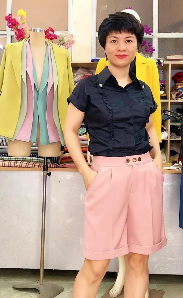áo sơ mi nữ mix đồ quần short ngắn V731 thời trang thủy hải phòng 2