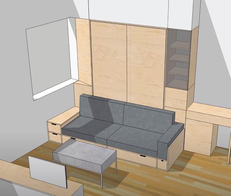 диван и кровать из фанеры