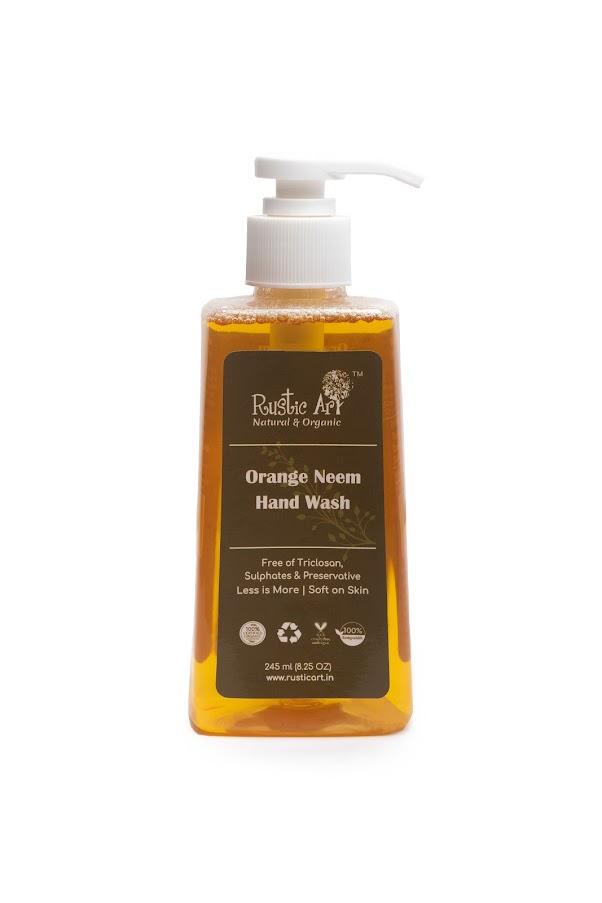 Rustic Art Organic Orange Neem Hand Wash 245ml