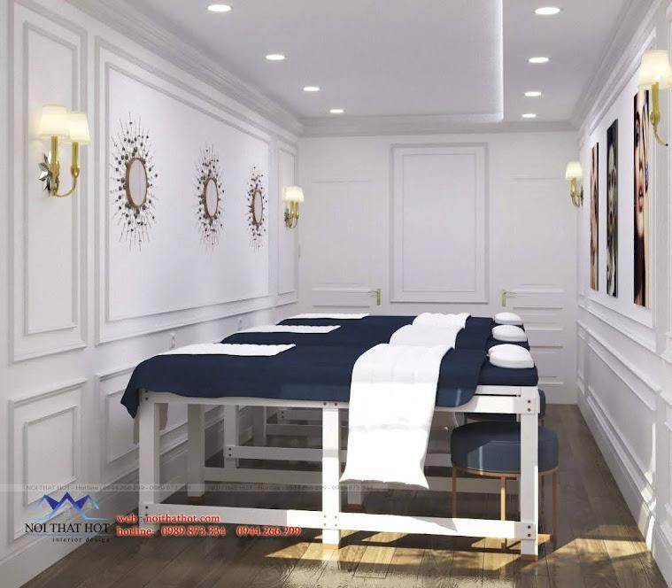thiết kế cửa hàng spa nail hà nội