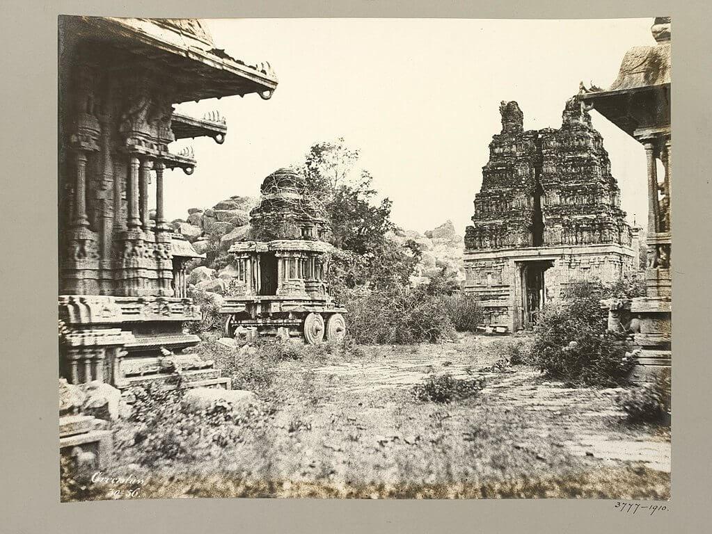 vitthal temple-Garuda_Temple,_Maha_Mandapa_and_Eastern_Gopura,_1856 old hampi photos