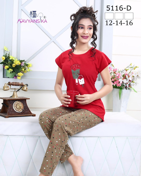 Vol 5116 Kavyansika Ladies Night Suits Manufacturer Wholesaler