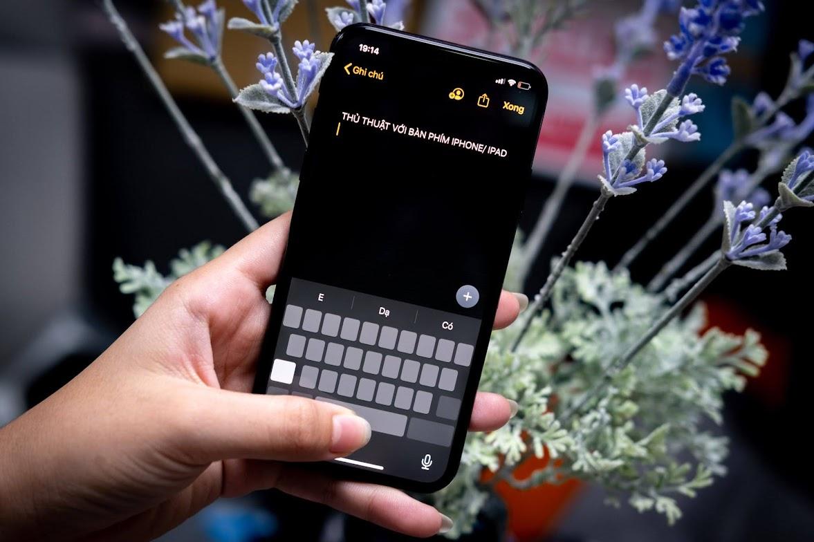 Những thủ thuật với bàn phím iOS