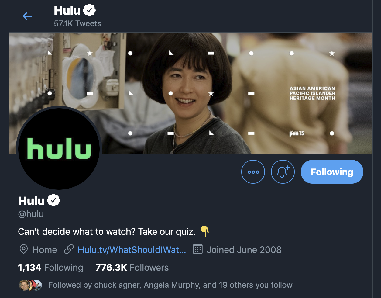 Huli's Twitter account