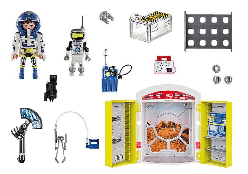 Contenido real de Playmobil® 70307 Cofre Misión a Marte