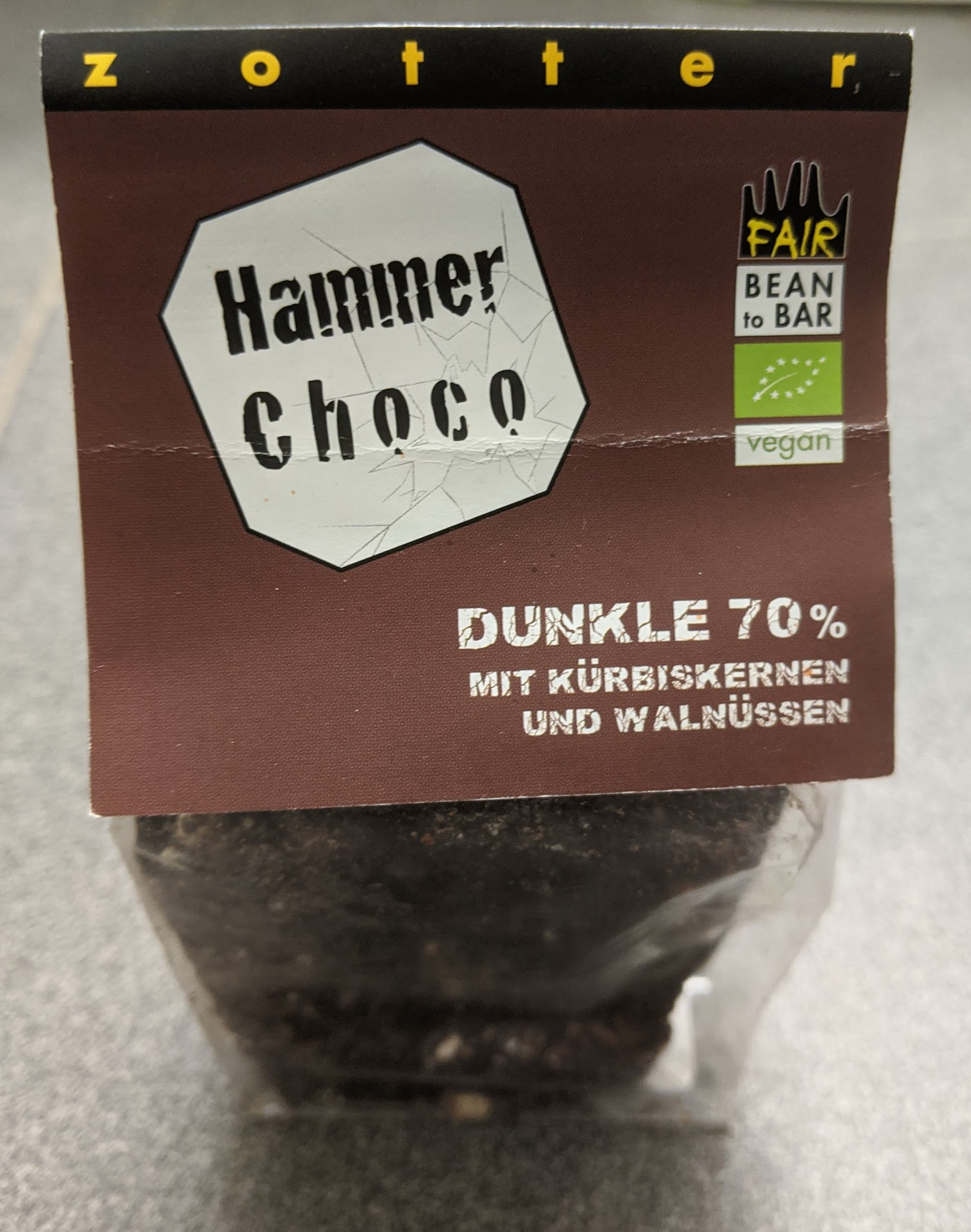 70% zotter hammer choco