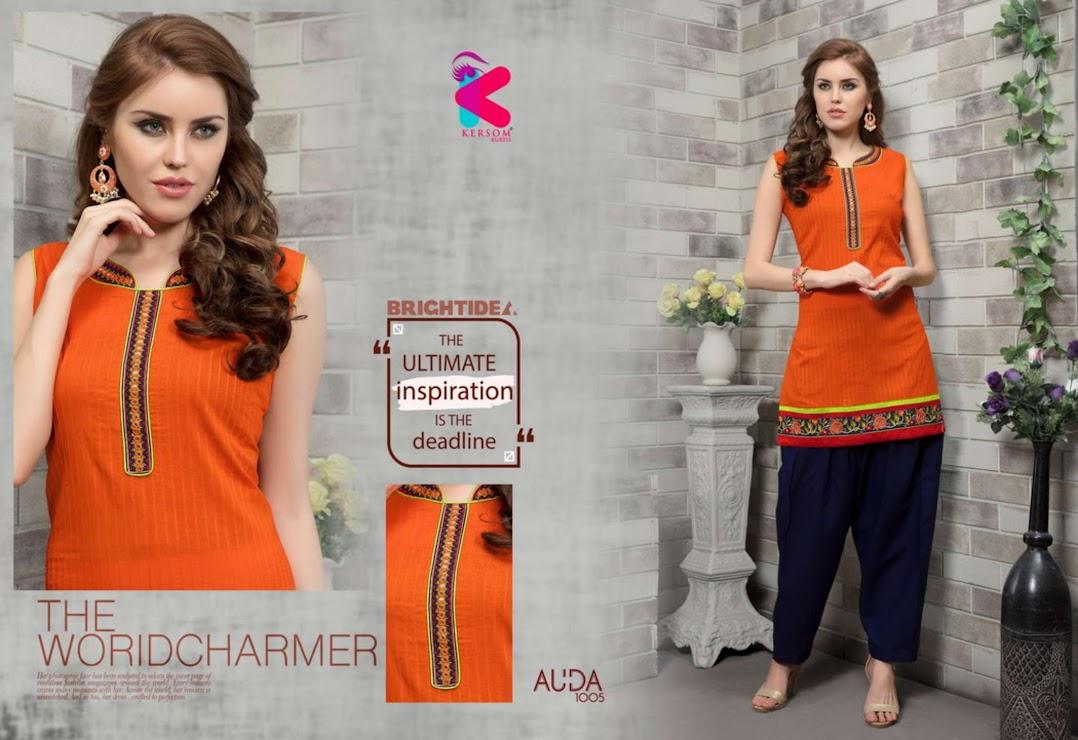 Auda Kersom Branded Kurti Patiyala Set Manufacturer Wholesaler