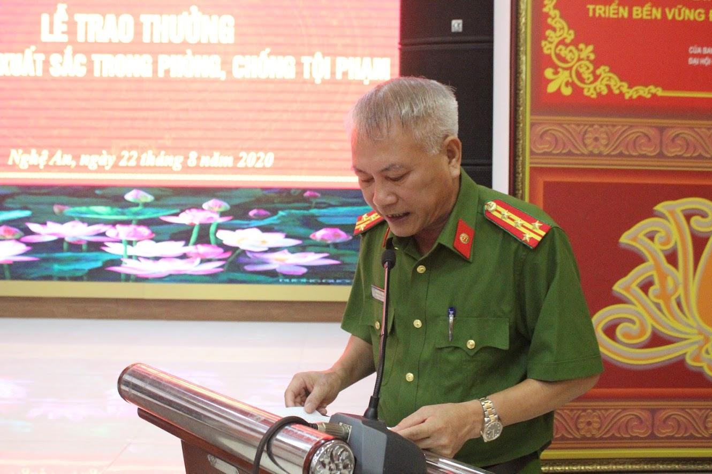 1.Đại tá Phạm Hoài Nam, Trưởng phòng Cảnh sát Hình sự báo cáo cáo quá trình khám phá Chuyên án 820C và vụ án giết người tại TX Thái Hòa