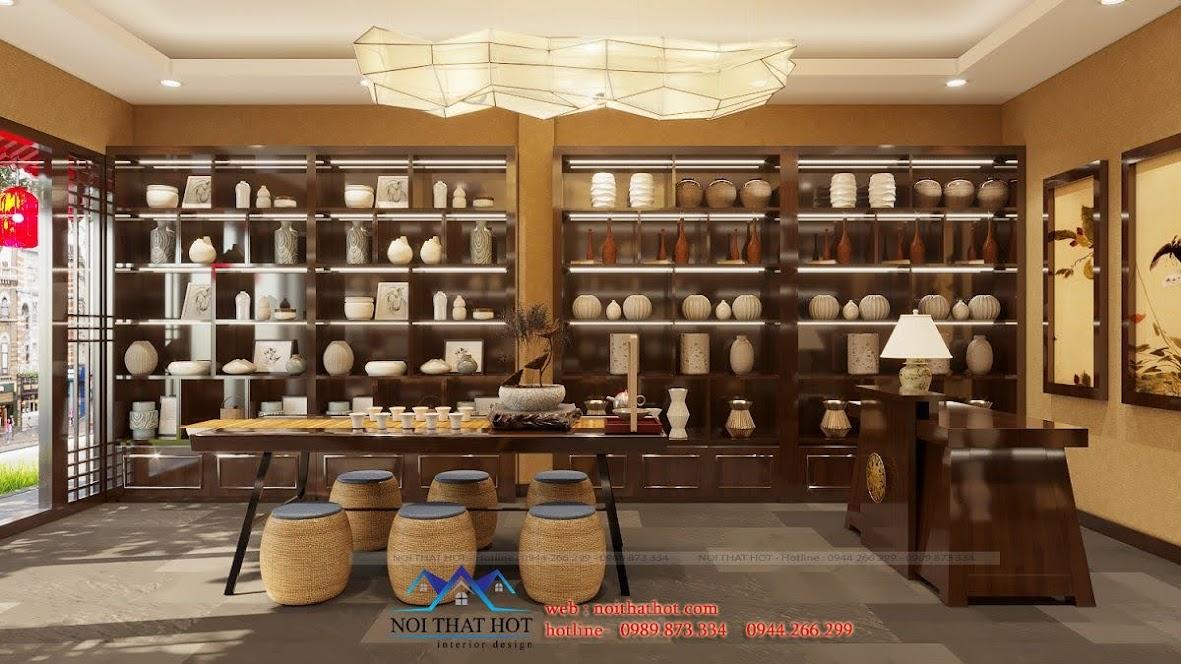 thiết kế cửa hàng trà đạo