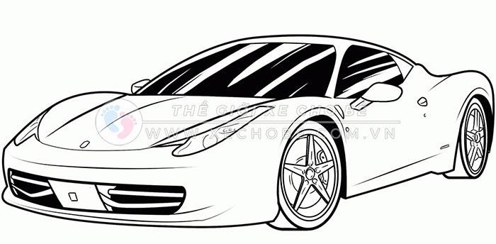 tranh tô màu xe ô tô cho bé 7