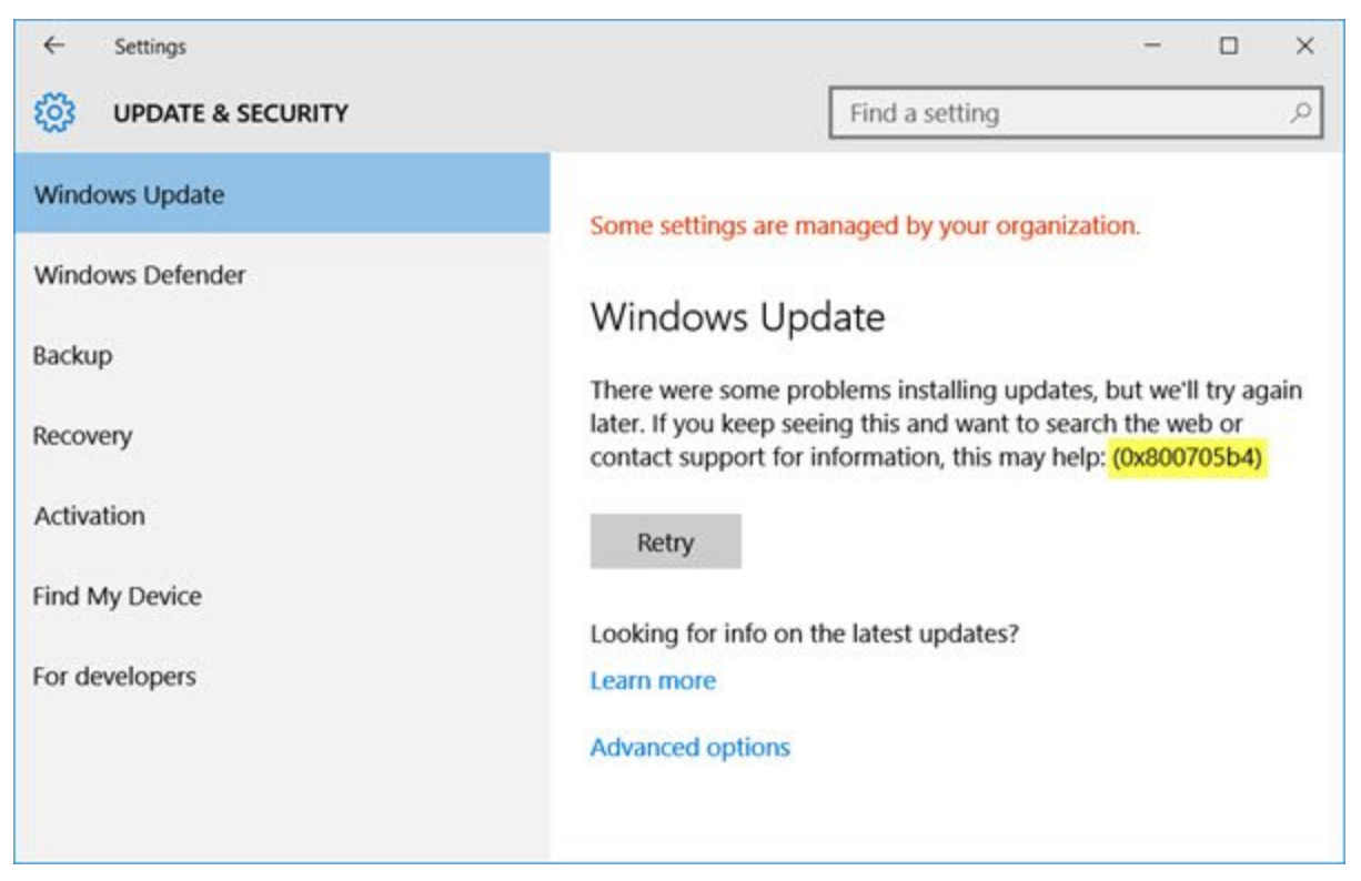 Windows Update. There were some problems installing updates, but we'll try again later. If you keep seeing this and want to search the web or contact support for information, this may help: