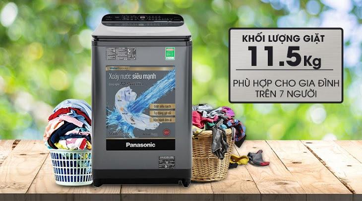 máy giặt Panasonic Inverter dòng FD-AR1 có khối lượng giặt lớn
