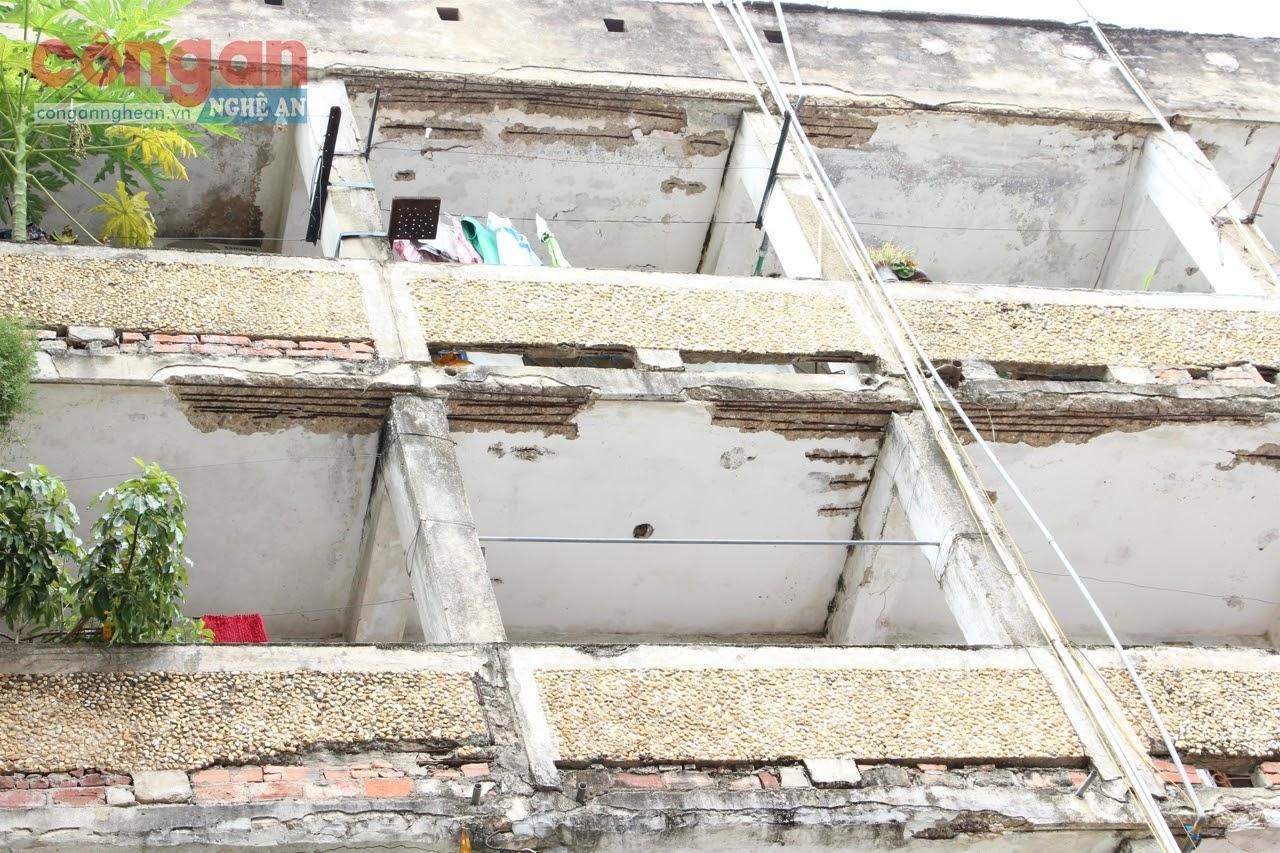 Nhà chung cư Quang Trung đã bị hư hỏng                nghiêm trọng, không đảm bảo an toàn