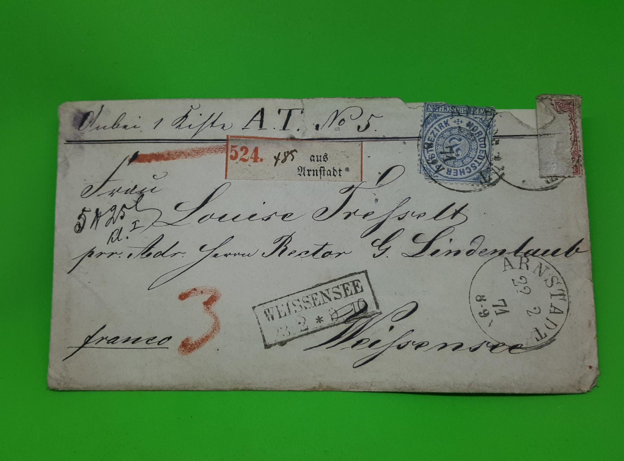 2 Leuchter und ein Brief - 21. Februar 1871