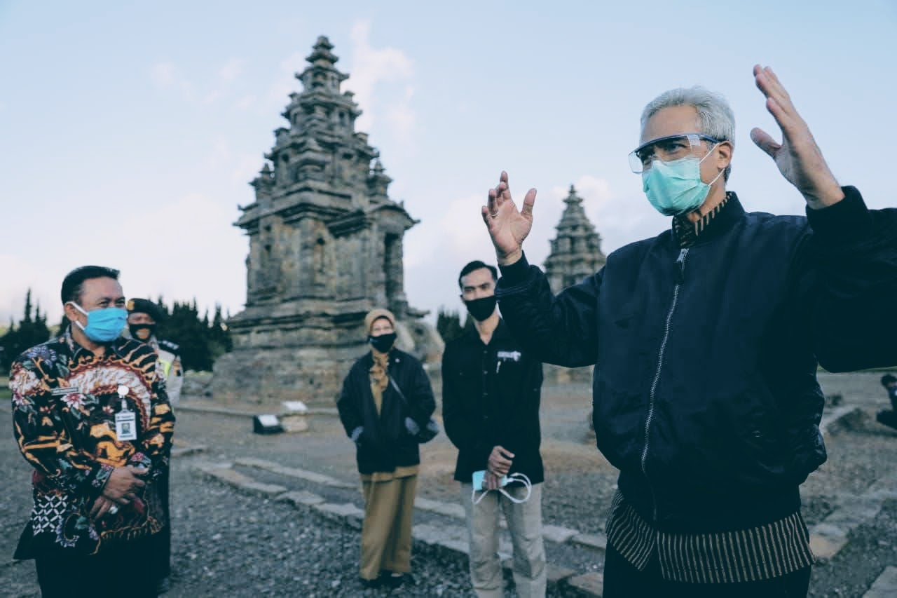 Gubernur Jateng Ganjar Pranowo berkunjung ke Wisata Dieng