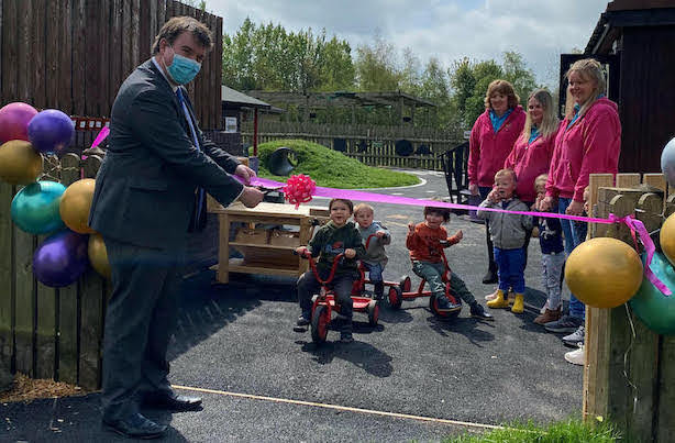 MP opens new outdoor childcare facility