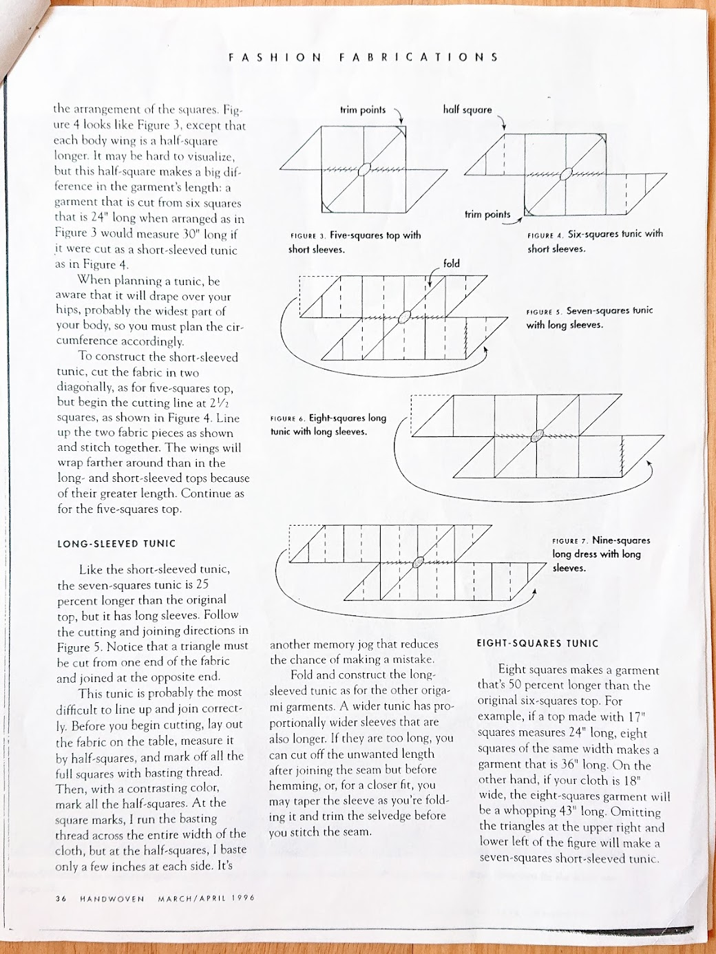 Origami Update article - Handwoven March/April 1996 | FAFAFOOM STUDIO