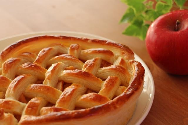 Apple Pie With Black Garlic Sprinkles