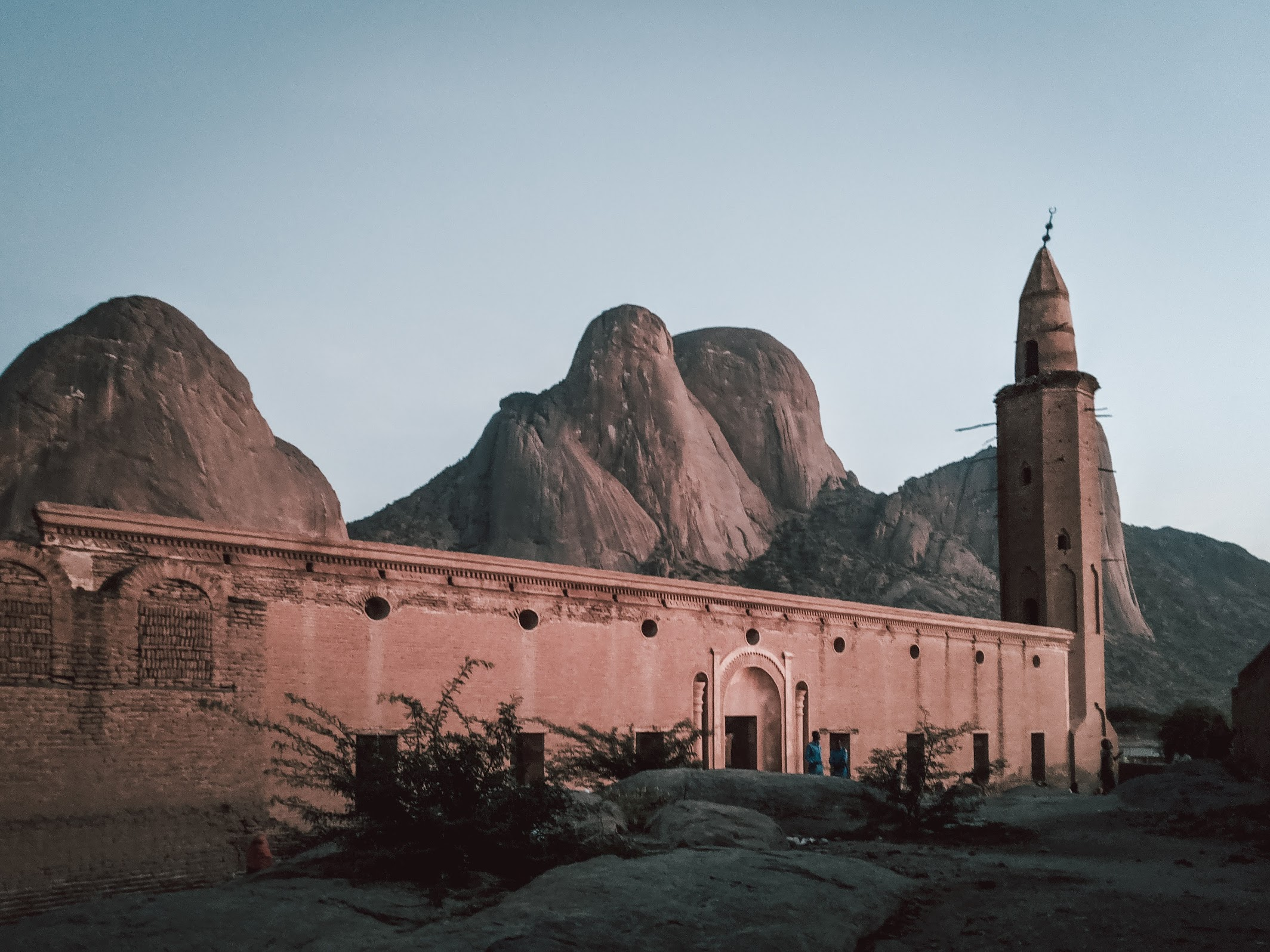Kassala mosque at dusk