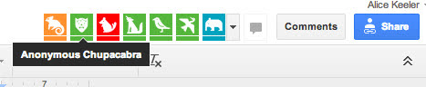 Google Docs anonymous animals.