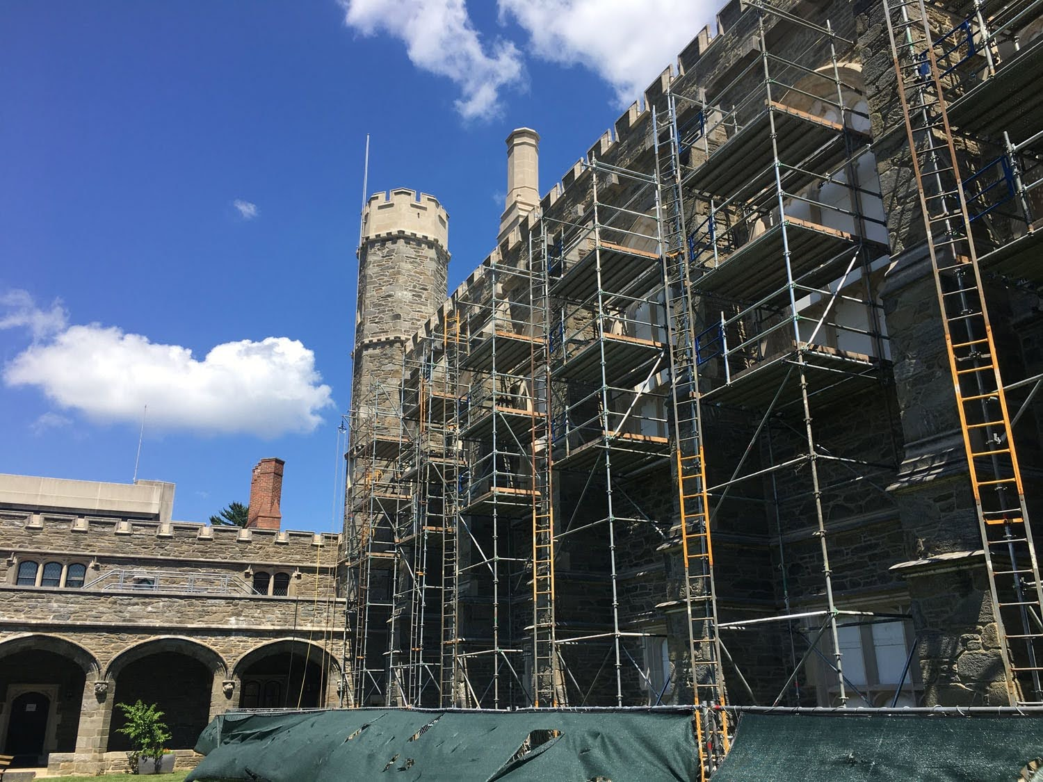 Scaffold, scaffolding, scaffolding, rent, rents, scaffolding rental, construction, ladders, equipment rental, scaffolding Philadelphia, scaffold PA, philly, building materials, NJ, DE, MD, NY, renting, leasing, inspection, general contractor, masonry, 215 743-2200, superior scaffold, electrical, HVAC, swing stage, swings, suspended scaffold, overhead protection, canopy, transport platform, lift, hoist, mast climber, access, buck hoist, bryn mawr college