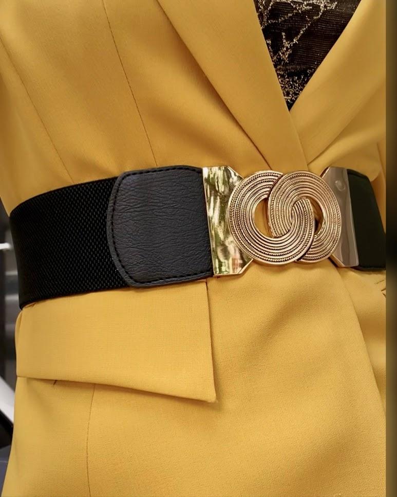 Áo vest nữ công sở màu vàng mix quần ống suông V741 thời trang thủy hải phòng 3