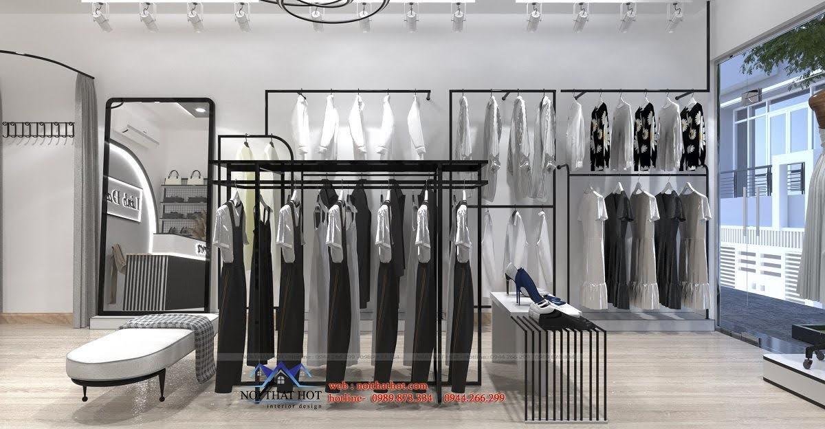 giá kệ quần áo giữa nhà