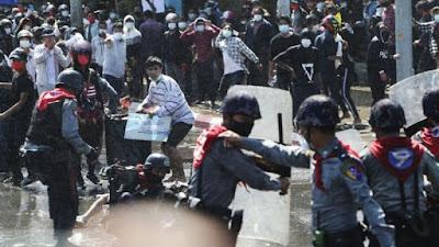 82 Demonstran Dibunuh Militer Myanmar hanya Satu Hari