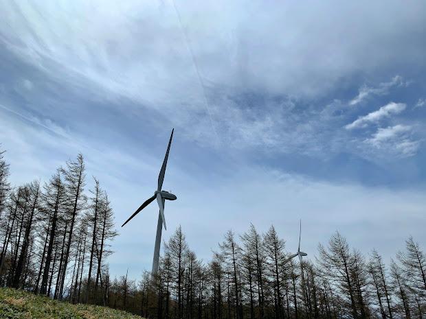 姫神ウィンドパークの風車