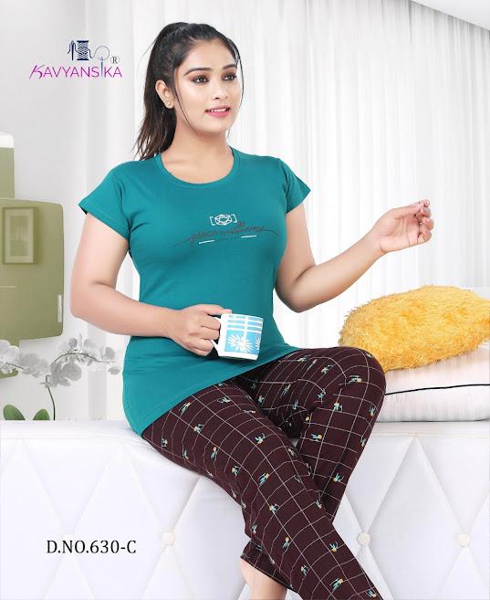 Vol 630 Kavyansika Ladies Night Suits Manufacturer Wholesaler