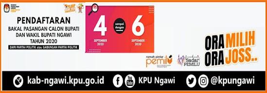 Pendaftaran Paslon Bupati Ngawi tahun 2020
