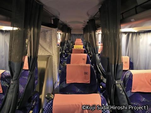 長電バス「ナガデンエクスプレス」大阪線 1453 車内
