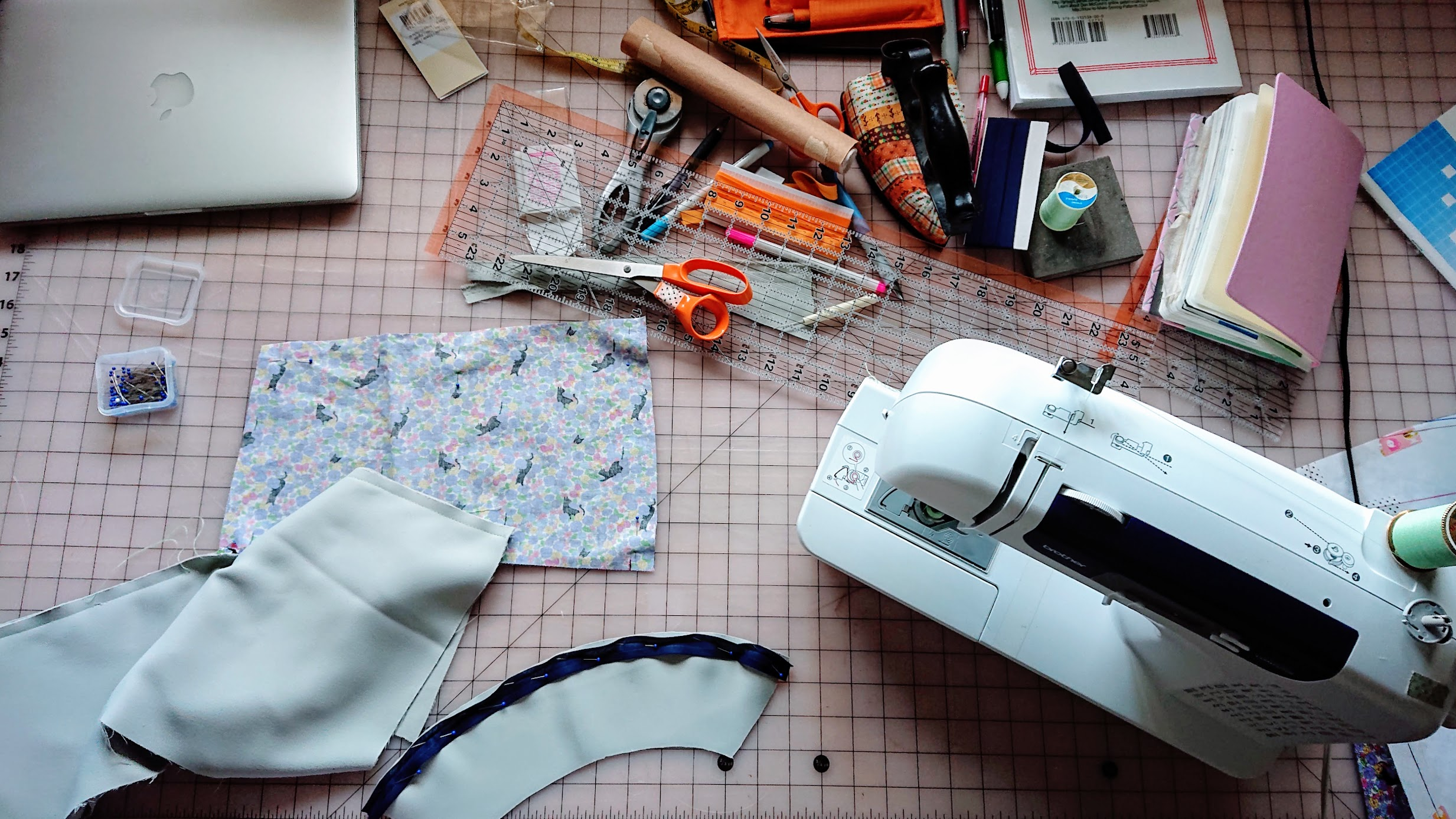 State of the cutting table during Sleeveless Coat making process | Fafafoom Studio