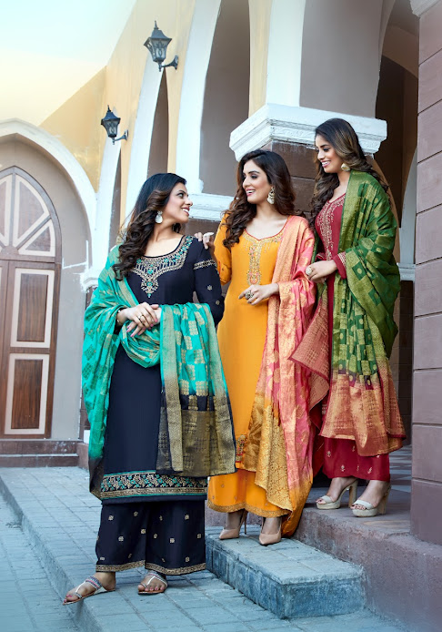 Buy Parra Studio Lihaaz Vol 1 Readymade Palazzo Ladies Suits