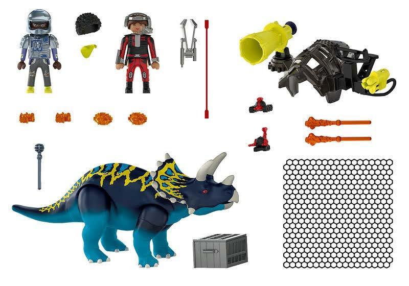 Contenido real de Playmobil® 70627 Triceraptos: Disturbios por las piedras legendarias