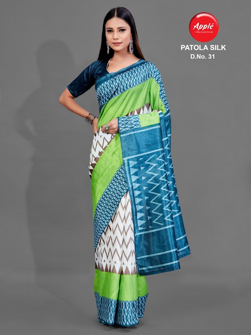 Apple Patola Silk Design No 31 Colour Chart Sarees Catalog Lowest Price