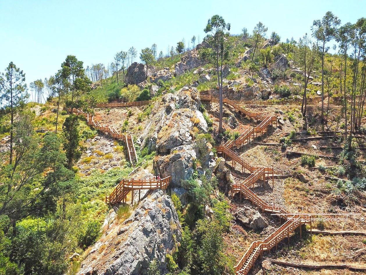GEOROTA DO ORVALHO | Dos passadiços do Orvalho na cascata da FRAGA DA ÁGUA D'ALTA até aos passadiços do Cabeço do Mosqueiro