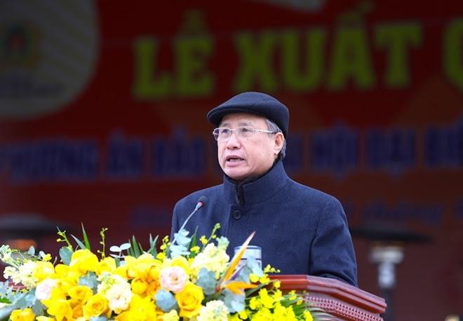 Thường trực Ban Bí thư Trần Quốc Vượng phát biểu chỉ đạo tại buổi lễ.