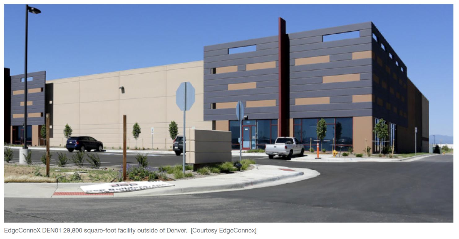 EdgeConneX DEN01 29,800 square-foot facility outside of Denver. [Courtesy EdgeConnex]