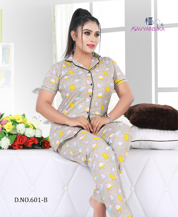 Kavyansika Collar Vol 601 Women Night Suits Catalog Lowest Price