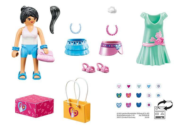Contenido Real de Playmobil® 70596 Chica Fashion