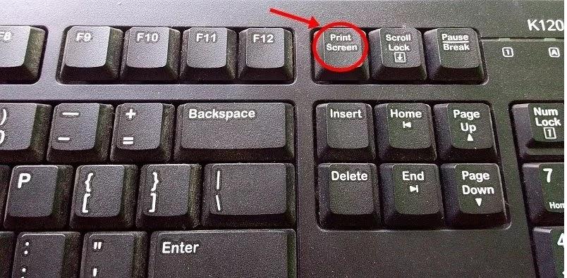 print screen on keyboard