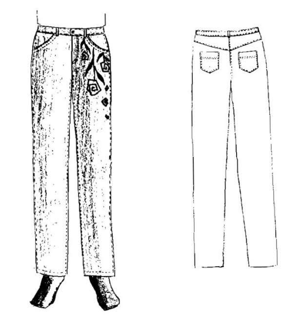 Phương Pháp Thiết Kế Quần Jean Nữ 1